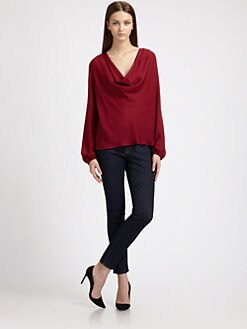 Chelsea Flower - Silk Cowlneck Blouse