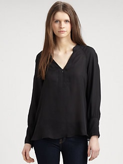 Chelsea Flower - Silk Zip Blouse