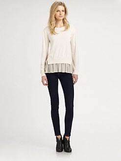 Clu - Ruffle-Trim Sweater