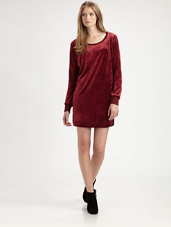 C&C California - Velvet Sweatshirt Dress