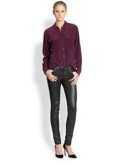 Equipment - Signature Silk Blouse/Cabernet