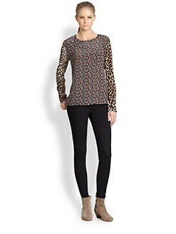 Equipment - Liam Silk Print Blouse