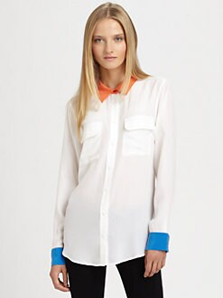 Equipment - Colorblock Silk Shirt