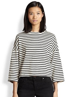 Townsen - Captain Striped Crossover-Back Cropped Top