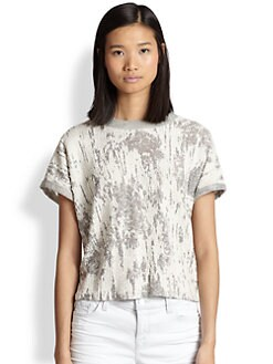 Townsen - Azul Distressed Burnout Terry Tee