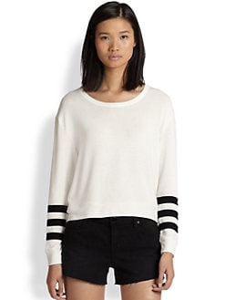 Townsen - Leo Striped-Sleeve Sweatshirt
