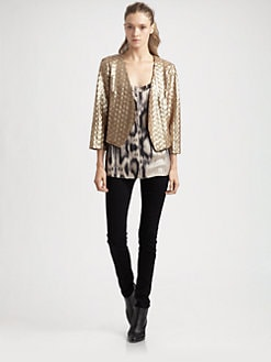 ADDISON - Cropped Sequin Jacket