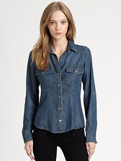 Bella Dahl - Western Chambray Shirt