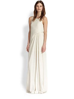 ADDISON - Tyson Gathered Twist-Front Maxi Dress