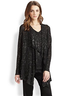 Saks Fifth Avenue Collection - Sequin Waterfall Cardigan
