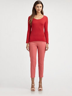Saks Fifth Avenue Collection - Silk/Cashmere Colorblock Top