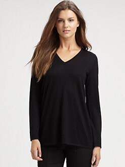 Saks Fifth Avenue Collection - Cashmere/Silk Chiffon-Back Tunic