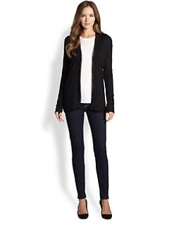 Saks Fifth Avenue Collection - Silk/Cashmere Open-Front Cardigan