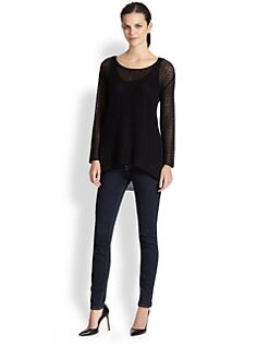 Saks Fifth Avenue Collection - Oversized Silk Lace Tunic