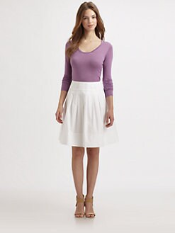 Saks Fifth Avenue Collection - Silk/Cashmere Scoopneck Sweater