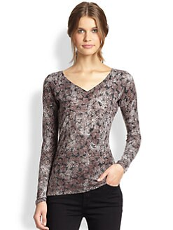 Saks Fifth Avenue Collection - V-Neck Patterned Sweater