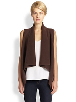 Saks Fifth Avenue Collection - Wool/Cashmere Ribbed Vest