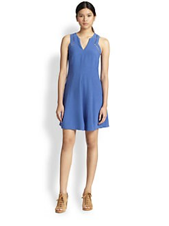 Rebecca Taylor - Cutout-Detail Flare Dress