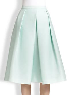 Tibi - Asymmetrical Pleated A-Line Skirt