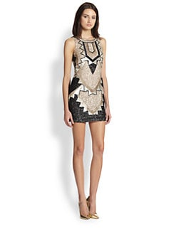 needle & thread - Art Deco Beaded Mini Dress