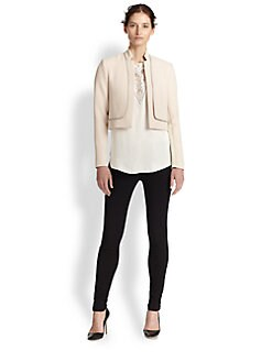 Rebecca Taylor - Zip-Trimmed Cropped Jacket