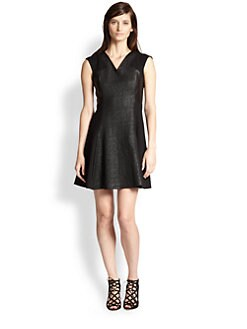 Rebecca Taylor - Tweed Combo Fit & Flare Dress