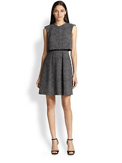 Rebecca Taylor - Split-Back Tweed Crop-Top Dress