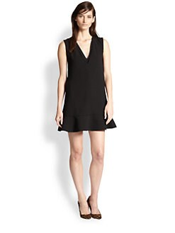 Rebecca Taylor - V-Neck Crepe Flutter Dress