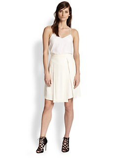 Rebecca Taylor - Crepe Asymmetrical-Pleat Skirt