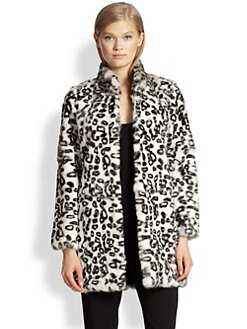Haute Hippie - Leopard-Print Rabbit Fur Coat