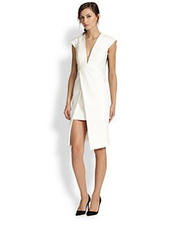 Mason by Michelle Mason - Asymmetrical Split-Front Dress