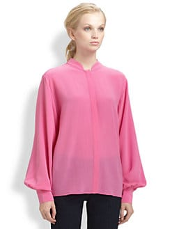 Rachel Zoe - Miley Silk Crepe de Chine Shirt