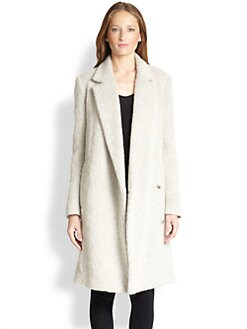 Tibi - Kelby Shag-Textured Double-Breasted Coat