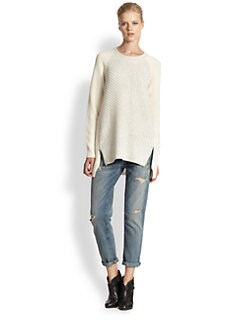 Rebecca Taylor - Oversized Side-Zip Sweater