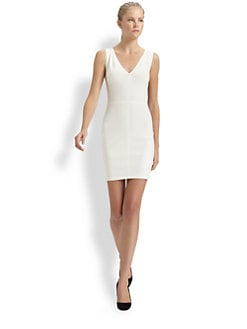Robert Rodriguez - Seamed V-Neck Dress
