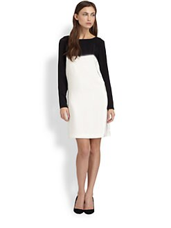 Tibi - Fade Out Long-Sleeve Dress