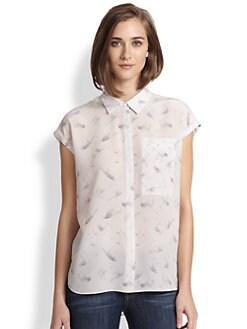 Rebecca Taylor - Hummingbird-Print Silk Blouse