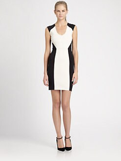 Robert Rodriguez - Colorblock Scoopneck Dress