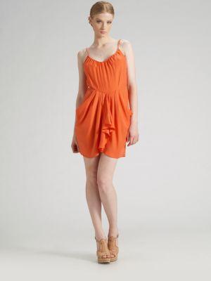 Pindot Silk Dress