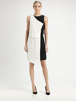 Tibi - Silk Crepe de Chine Dress