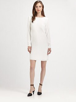 Tibi - Solid Silk Shift Dress