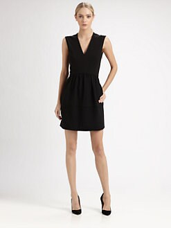Tibi - Ponte V-Neck Dress