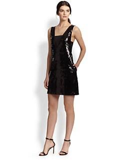Sachin & Babi - Leighton Stretch Jersey-Insert Sequined Dress