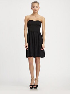 Rebecca Taylor - Lasercut Strapless Dress