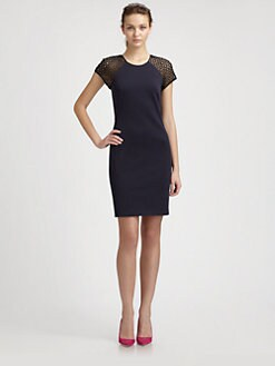 Rebecca Taylor - Ponte + Lace Dress