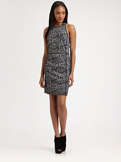 Rebecca Taylor - Leopard Knit Shift Dress