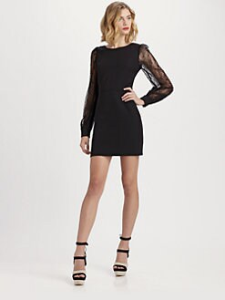 Rachel Zoe - Andrews Bishop-Sleeve Jersey Dress