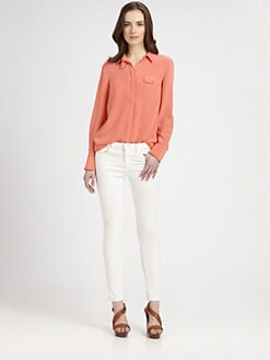 Rebecca Minkoff - Ismini Silk Tunic Blouse