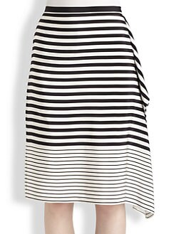 Tibi - Claire Draped Silk Skirt