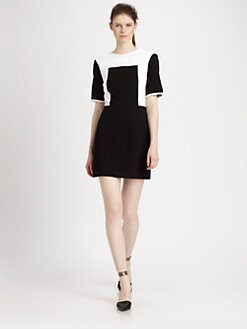 Tibi - Ponte Knit Color Blocked Dress